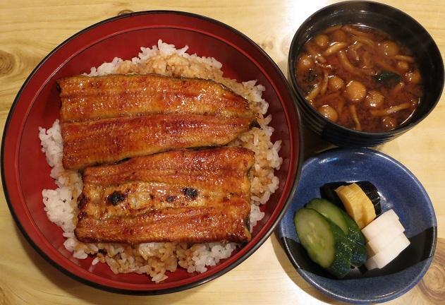 うな丼(竹)+なめこ汁