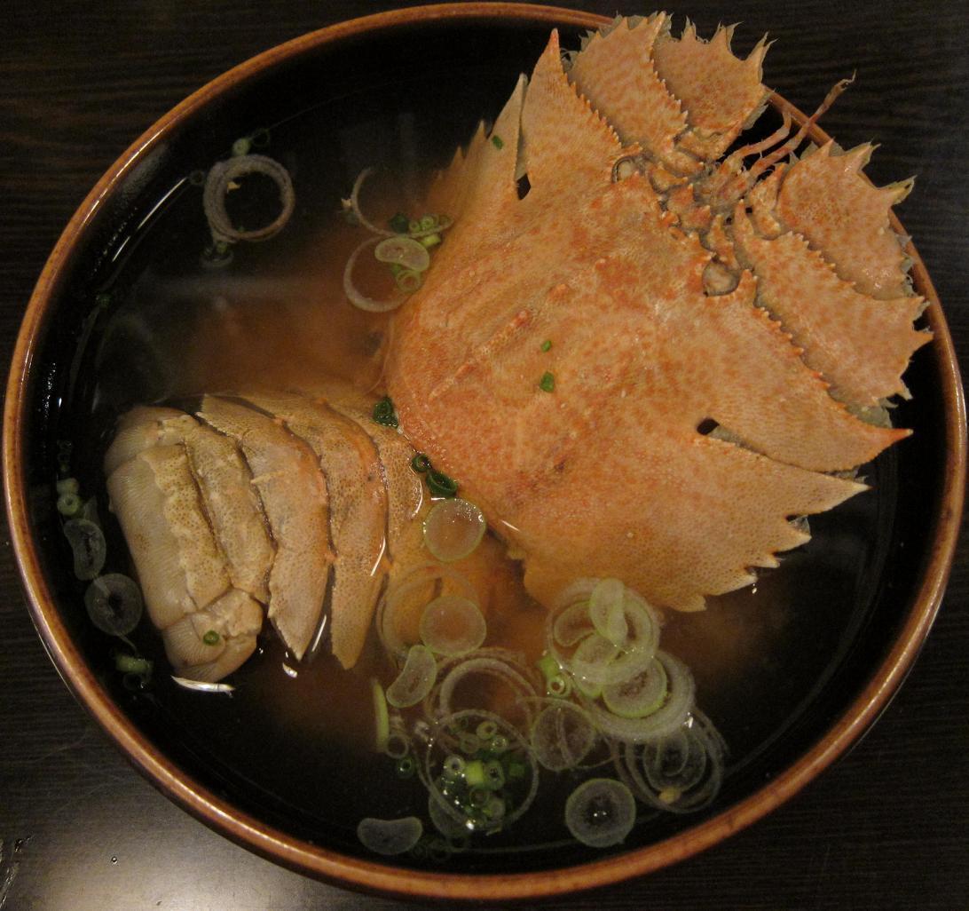 団扇海老味噌汁