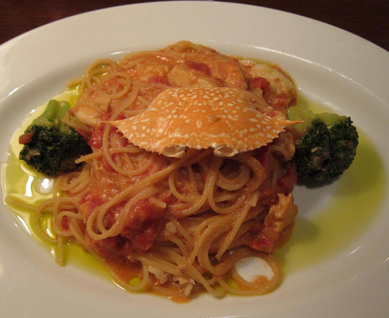 TOMATO Spaghetti w/Blue Crab