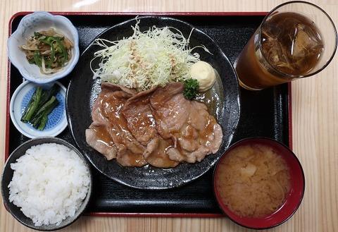 生姜焼定食(彩)869