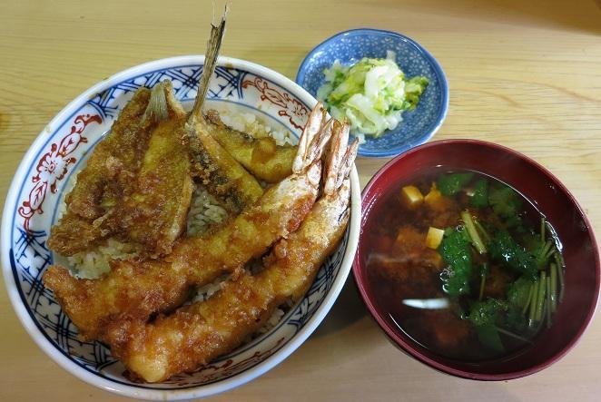 天丼+みそ汁