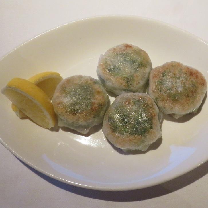 ニラと海老の焼き餃子