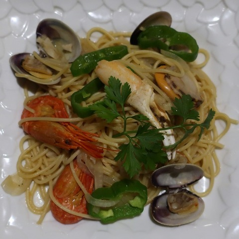 魚貝スパゲティ(薔薇)800