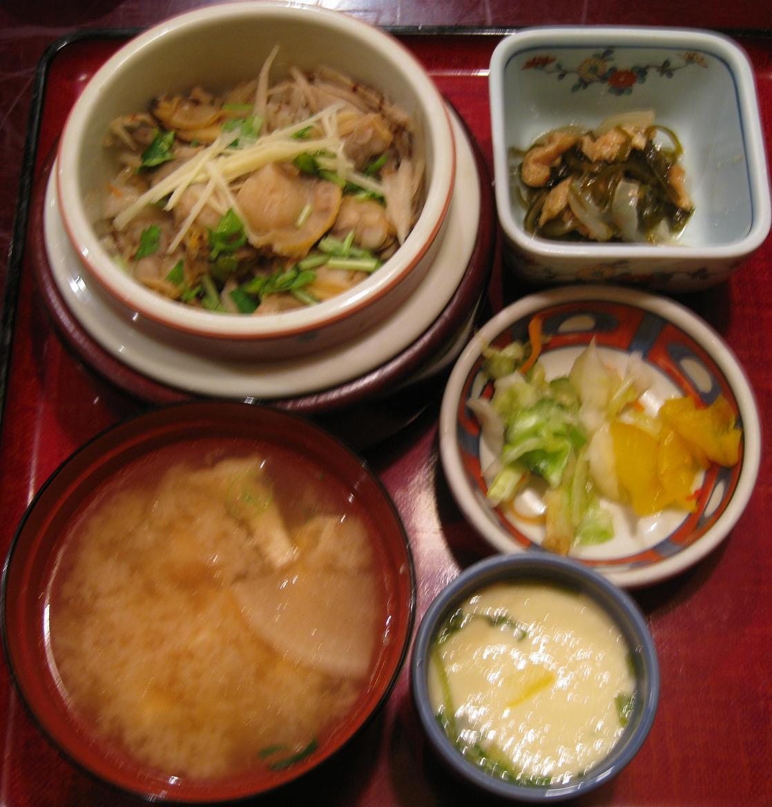 アサリ釜飯