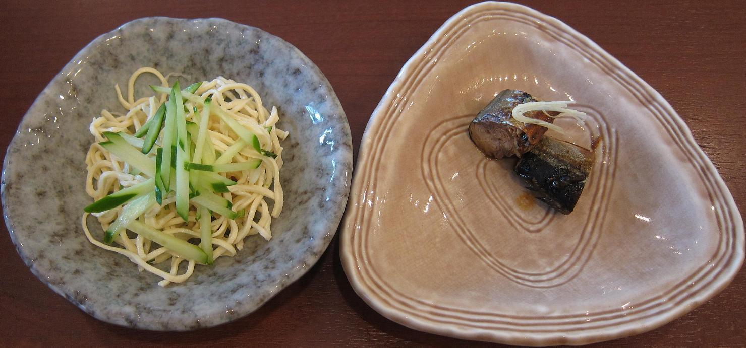 干し豆腐・秋刀魚燻製