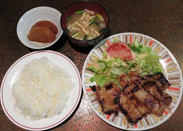 ポーク味噌焼+ライス・味噌汁