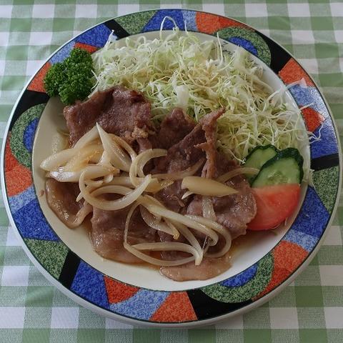 生姜焼定食(ヌー)1100