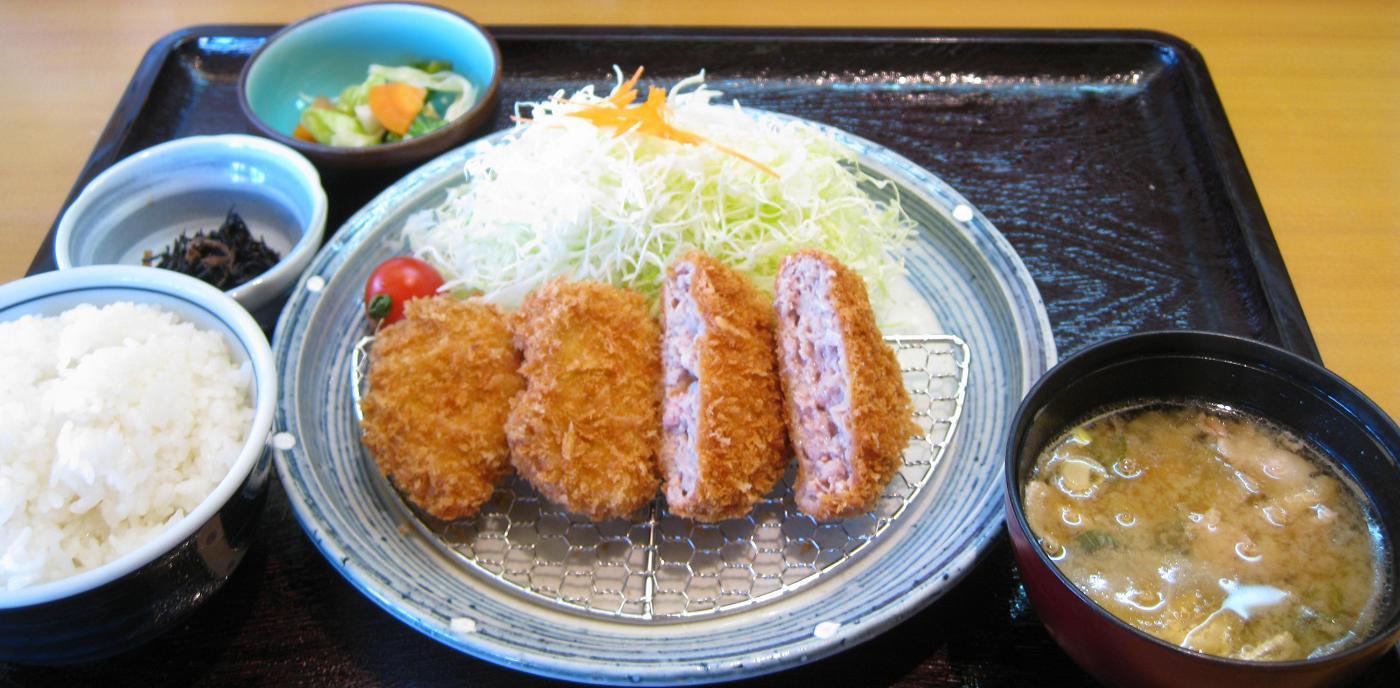 ヒレ&メンチ定食