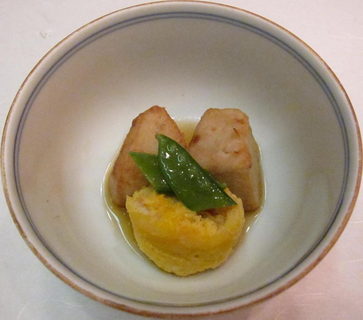 海老芋の揚げだし&車海老の黄味煮