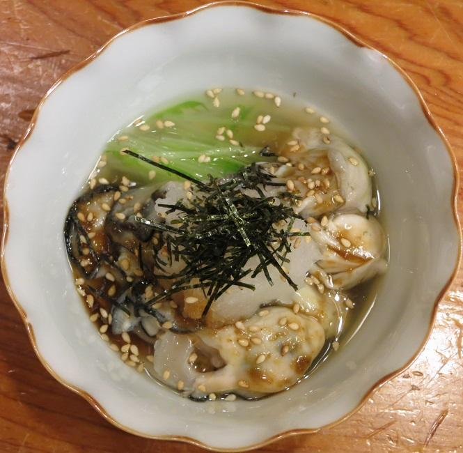 生むき牡蠣酢物