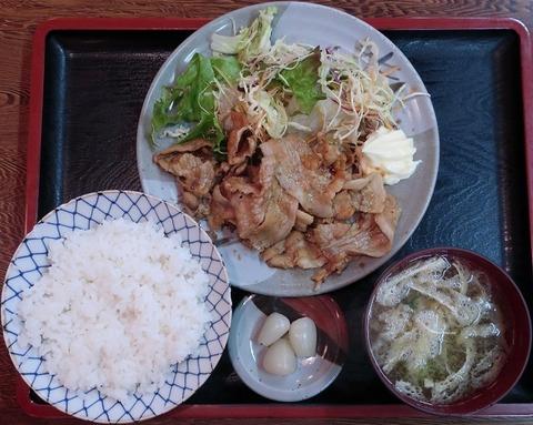 豚肉生姜焼定食(弁慶)680