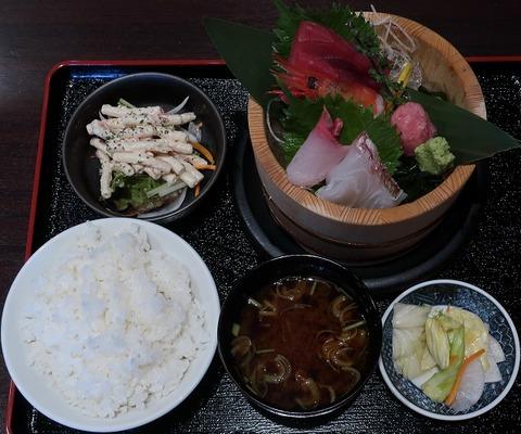 刺身定食(玉河)1000
