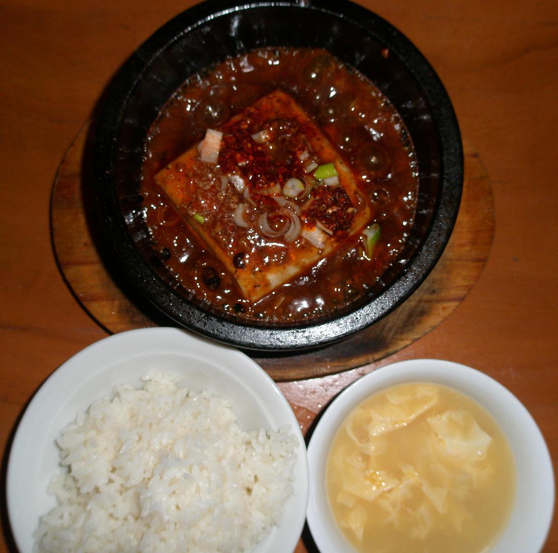 四川石鍋麻婆豆腐定食