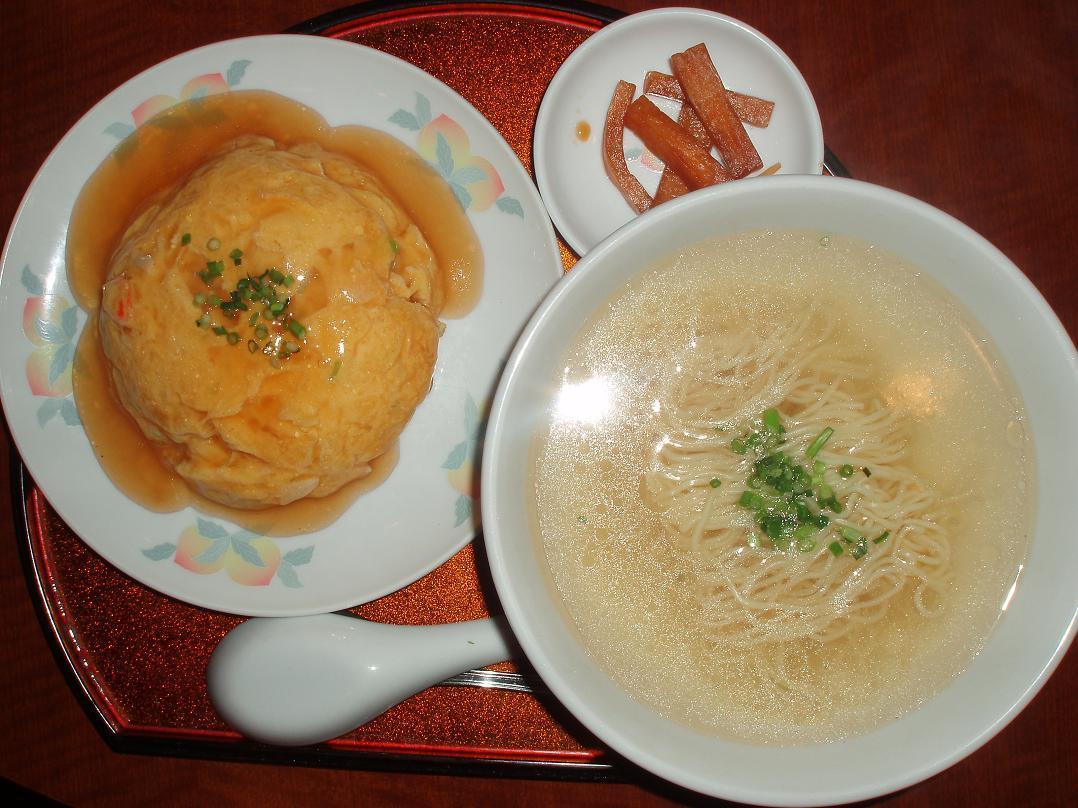 カニ玉あんかけご飯・つゆそば(光麺)