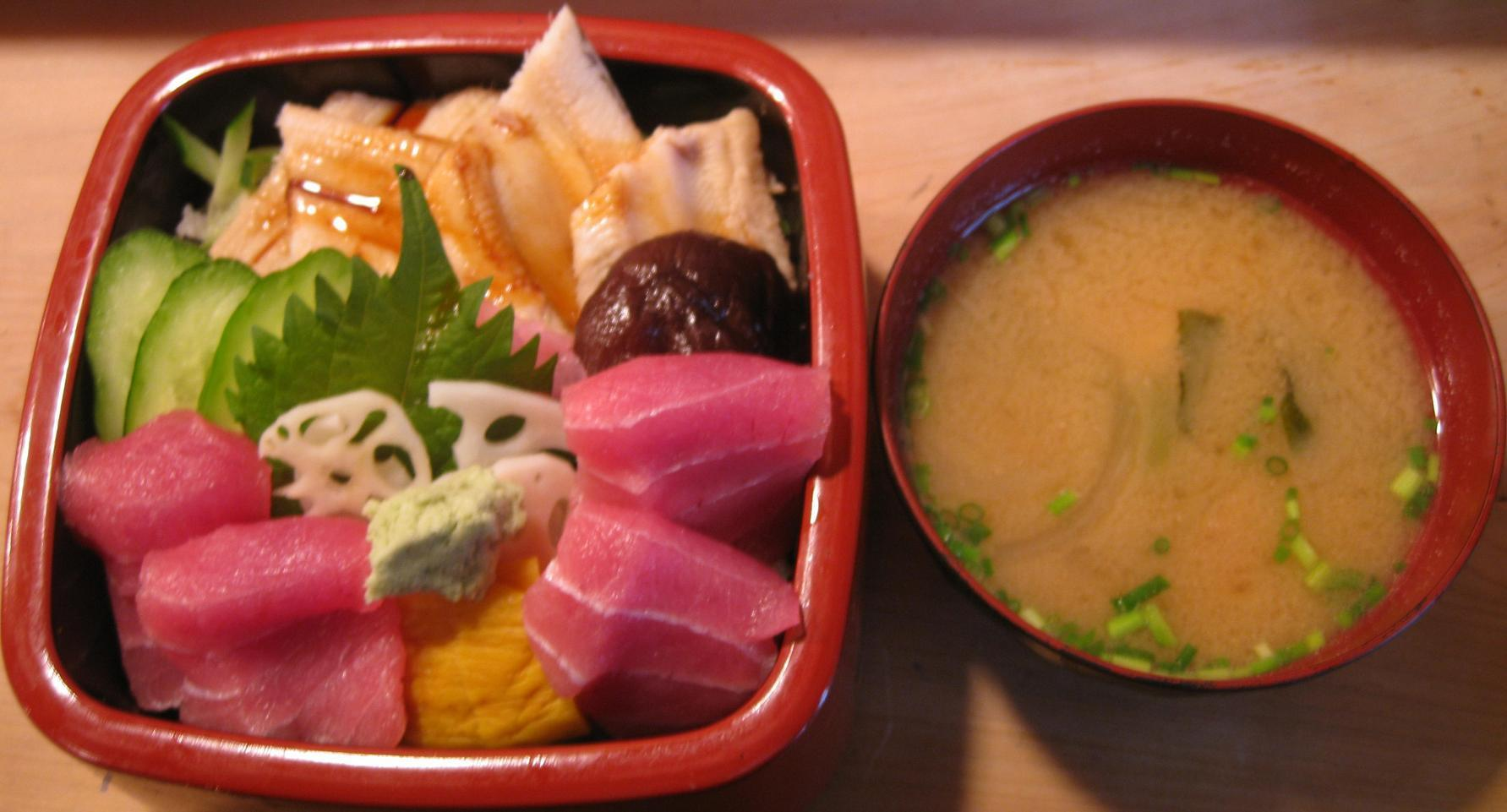 二色丼(味噌汁付)