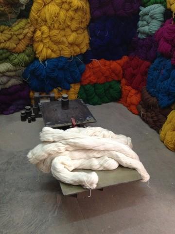 Nepal Yak wool shop 素材探し