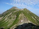 笠ヶ岳を振り返る