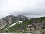 白馬山荘から杓子岳と鑓ヶ岳