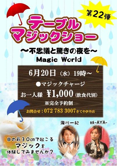 14075_【きて屋様】テーブルマジックショー