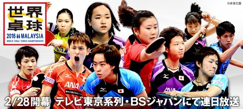 テレビ東京世界卓球2016