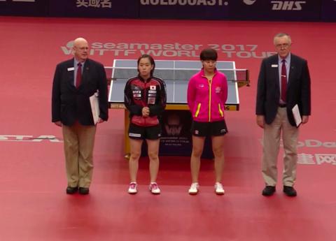 石川佳純オーストラリア2017シングルス初戦1