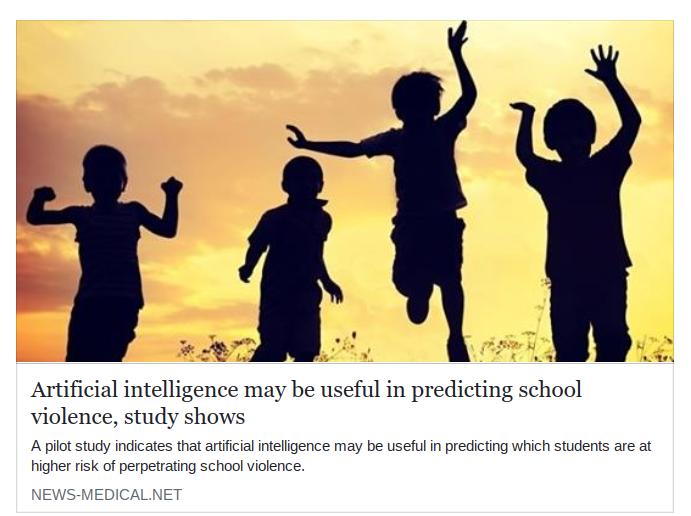 AIで校内暴力予測