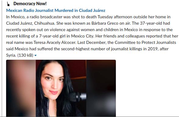 メキシコ女性殺害