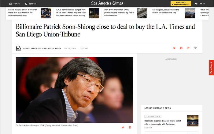 ロサンゼルス・タイムズ自身