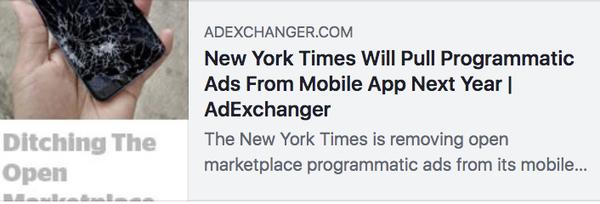NYTプログラマティック広告