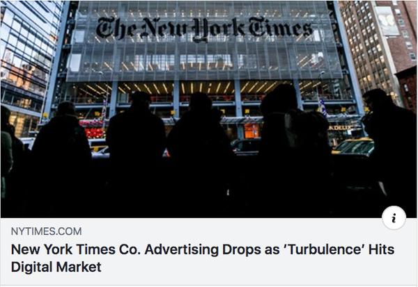 NYT親会社広告振るわず