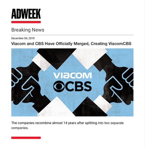 米地上波大手CBS、メディア・コングロマリットのバイアコムとの合併が正式に成立 速報