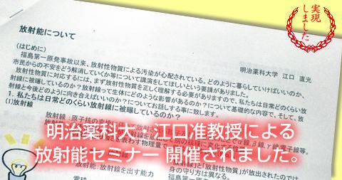 明薬大江口准教授の講演