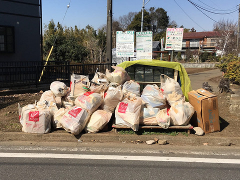 清瀬市のごみ収集の様子