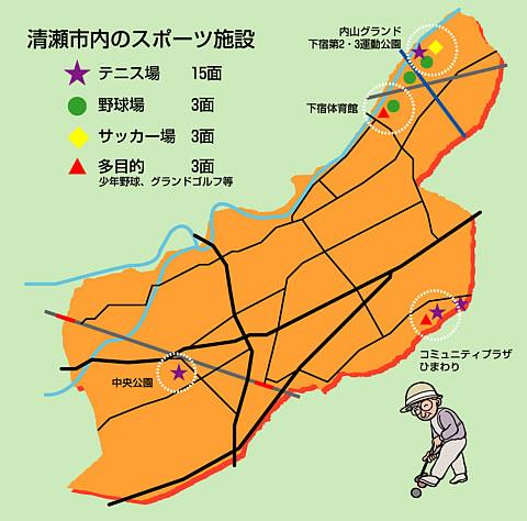 清瀬市略図