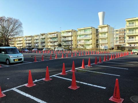 野塩団地の駐車場