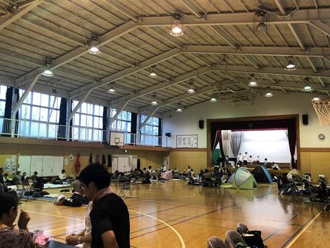 台風19号時の四中避難所(2019年10月)