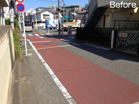 第二踏切から小金井街道までの通り