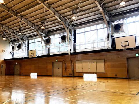 五中の体育館エアコン