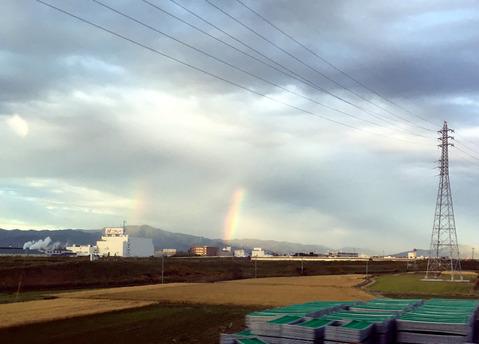 豊橋市付近での虹