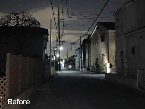 暗い路地への外灯設置