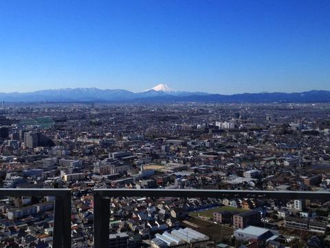 田無タワーからの富士山