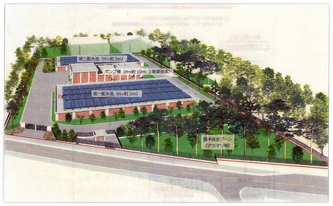 清瀬市梅園浄水場完成予想図