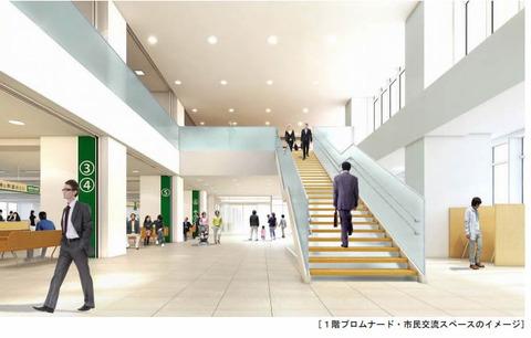 新庁舎一階プロムナード
