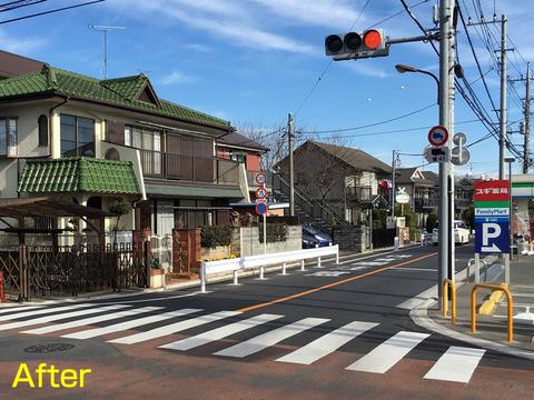 小金井街道すみれ幼稚園前通り
