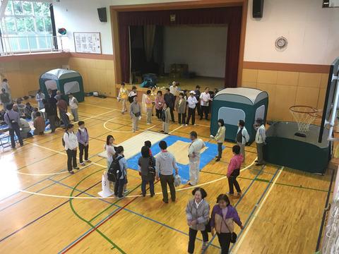 避難所運営訓練の様子