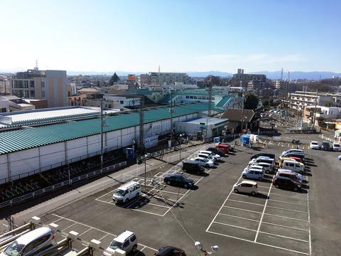 秋津駅北側の様子