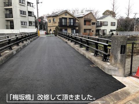 梅坂橋の補修