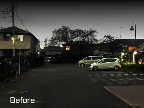 コロボックル駐車場の外灯