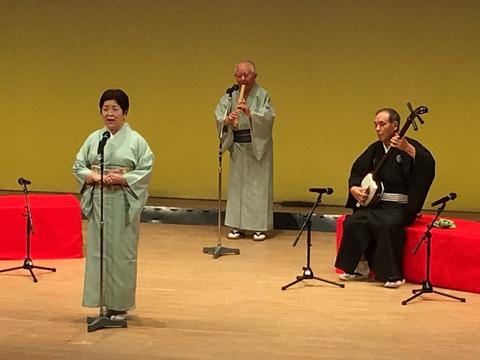 文化祭での民謡