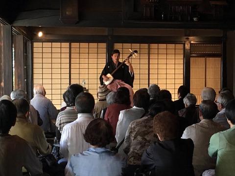 旧森田家で行われた三味線コンサート